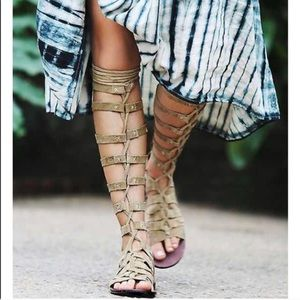 Free People Cypress Gladiator Sandals Tan Sz 5